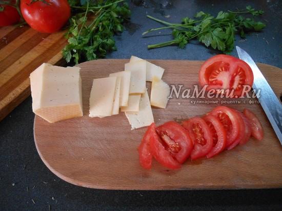 помидоры нарезать