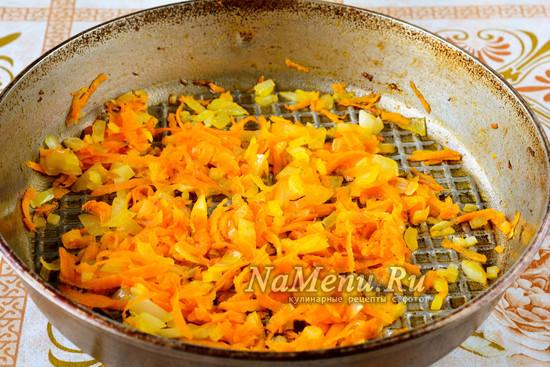 Пожарить овощи