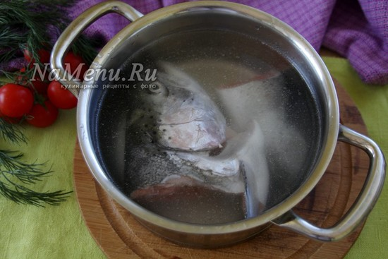положить рыбу в воду
