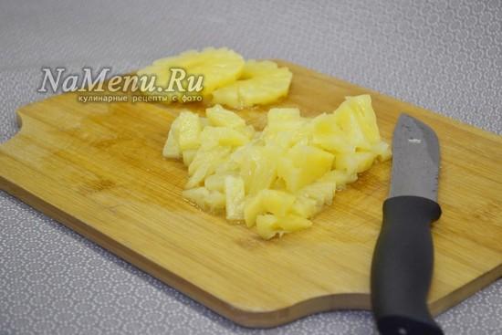 Нарезать ананас