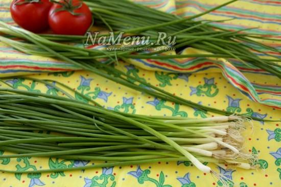 подготовить зеленый лук