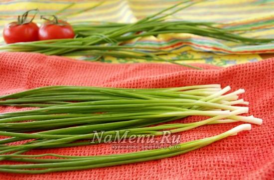 вымыть зеленый лук