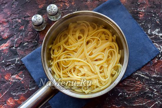 Отварить макароны