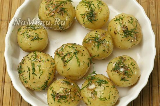 обмазали картофель
