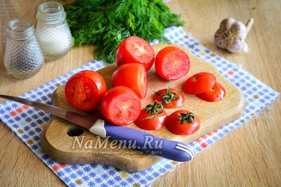 срезать верхушку помидор