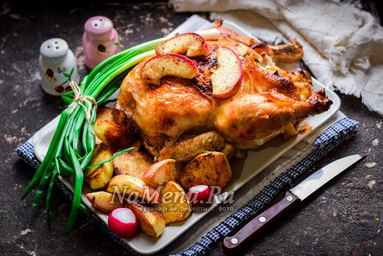 запечь курицу в духовке