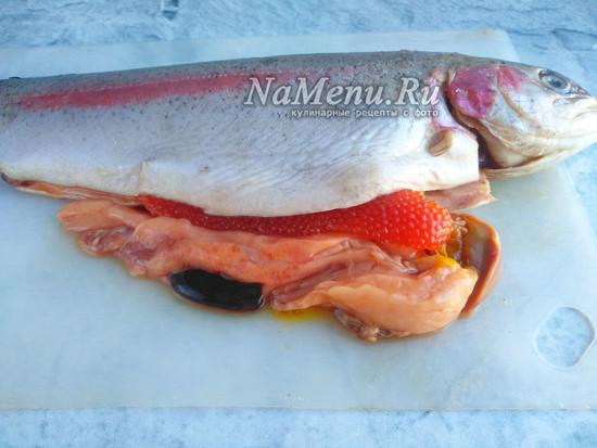 достать икру из рыбы