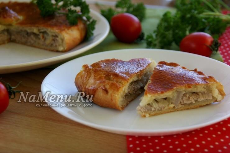 Вкусный дрожжевой пирог с мясом