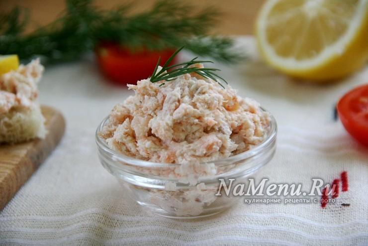 Риет из лосося с мягким творогом