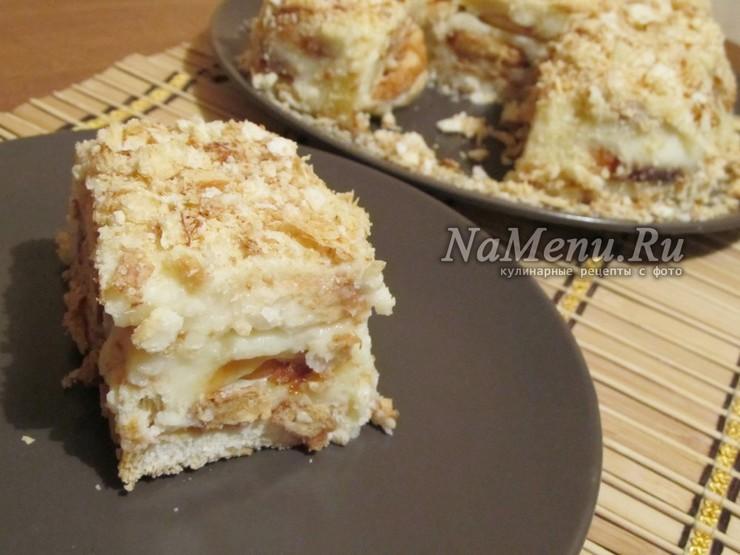 """Торт """"Наполеон"""" из печенья ушки"""