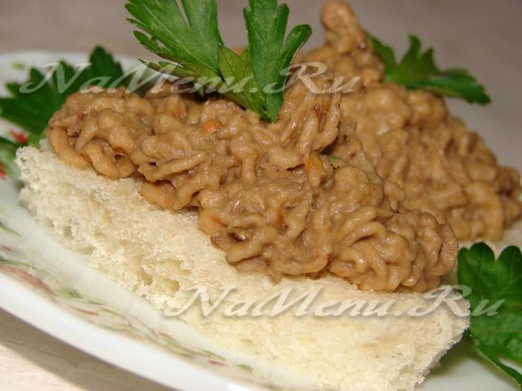 Паштет из чечевицы с орехами и черносливом, пошаговый рецепт с фото
