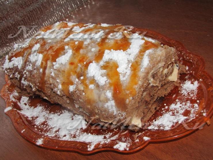 Рулет с абрикосовым бисквитом