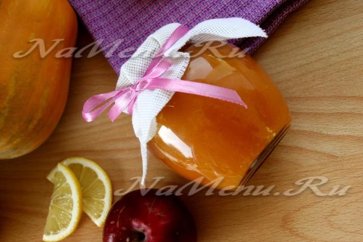 Тыквенное повидло с яблоками и лимоном