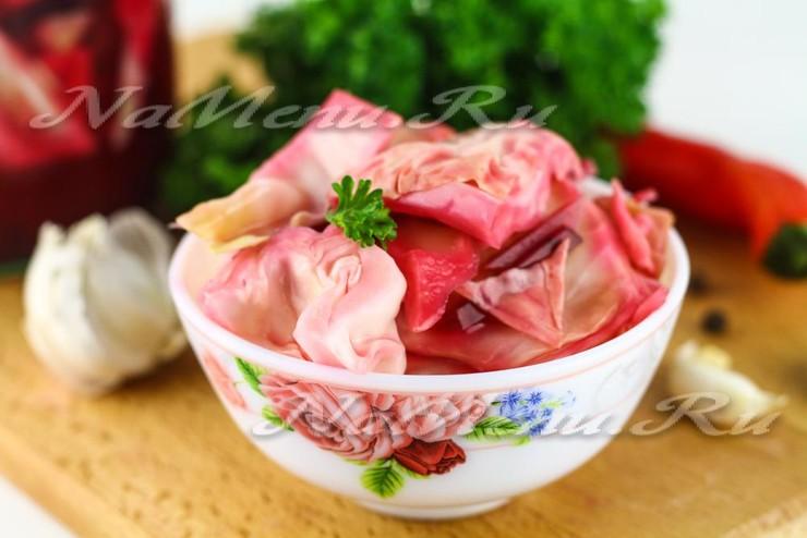 Маринованная капуста со свеклой , пошаговый рецепт с фото