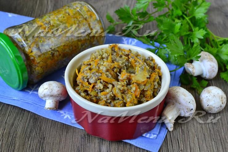 Грибная икра с морковью и луком