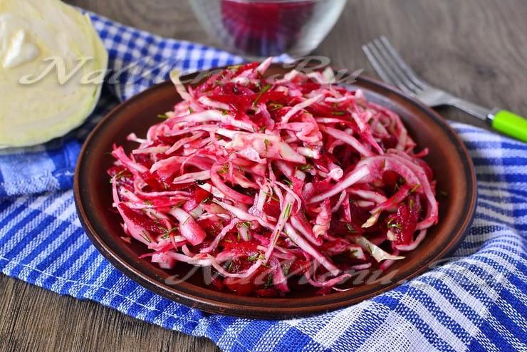 Салат из капусты и свёклы