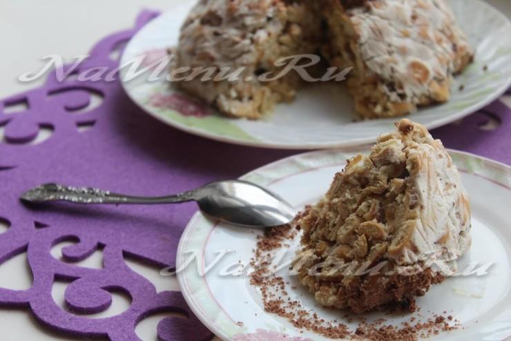 Торт из печенья рыбки