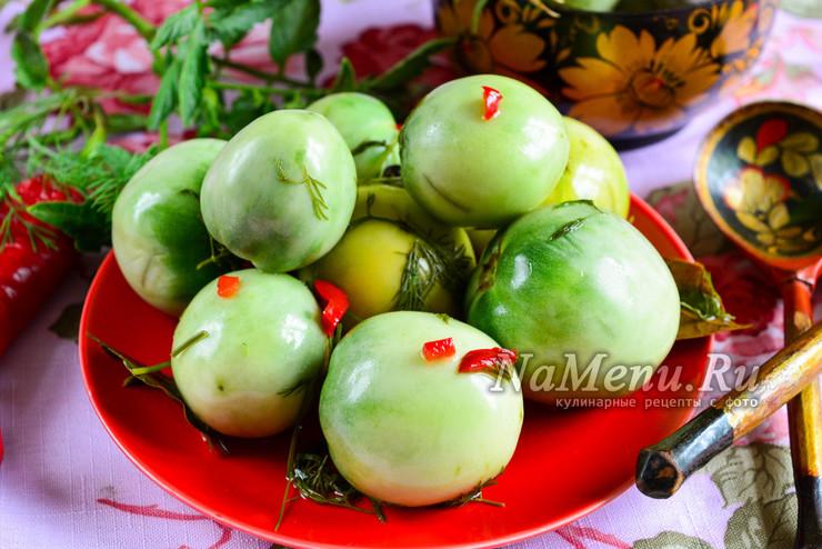 Квашенные зеленые помидоры как в советское время