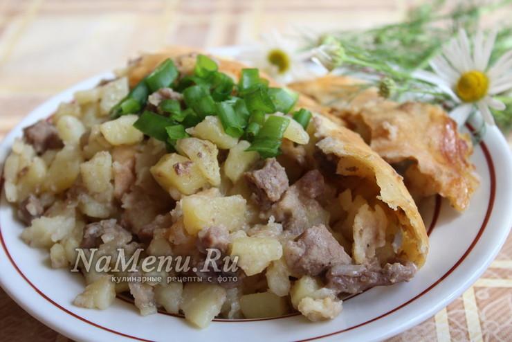Балиш с мясом и картошкой