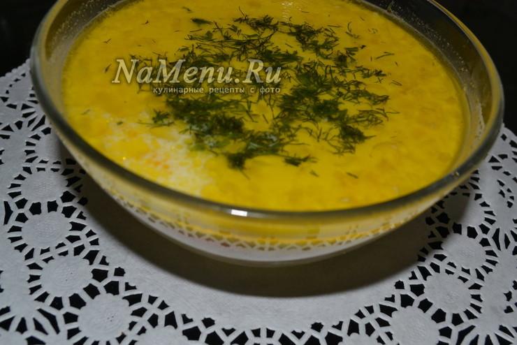 Нежный суп из консервированной горбуши со сливками