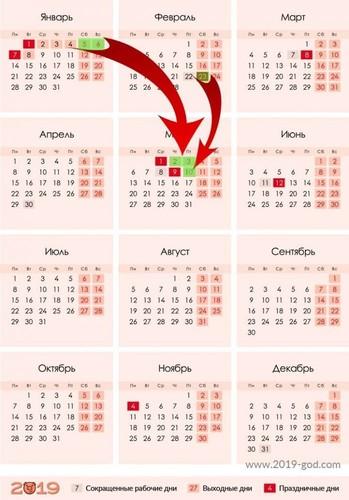 Как отдыхаем на 23 февраля 2019 года: выходные дни, перенос