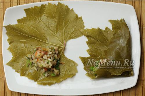 Долма в виноградных листьях - рецепт классический (фото пошагово, видео)